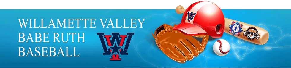 Willamette Valley Babe Ruth Baseball Logo
